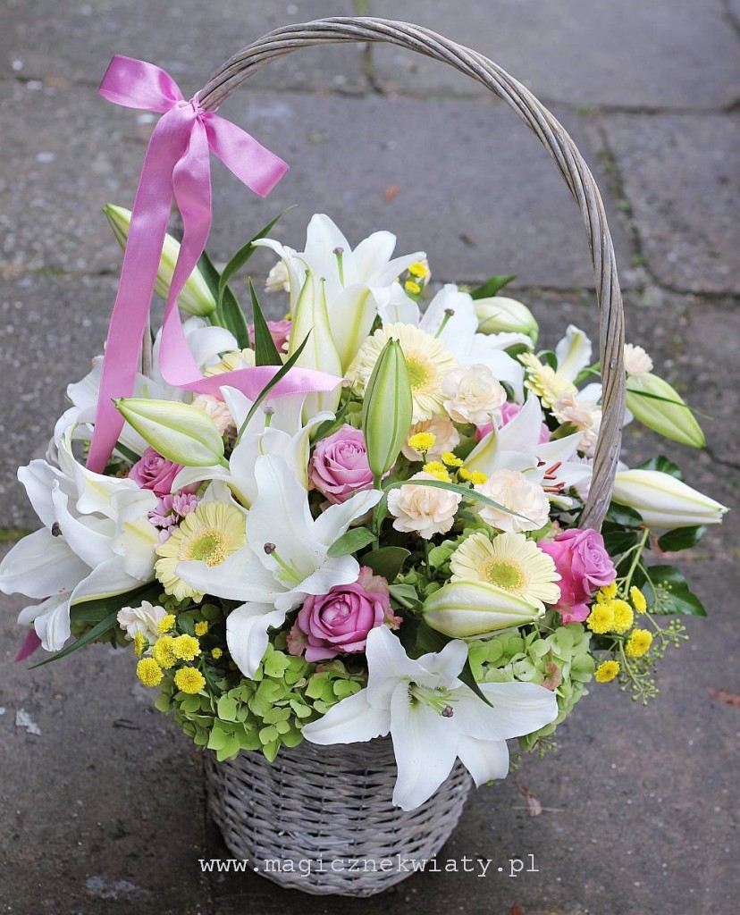 koszyczek  kwiatowy, Kraków, Magiczne kwiaty, Dzień Matki, dzień babci, urodzinowy, imieninowy4