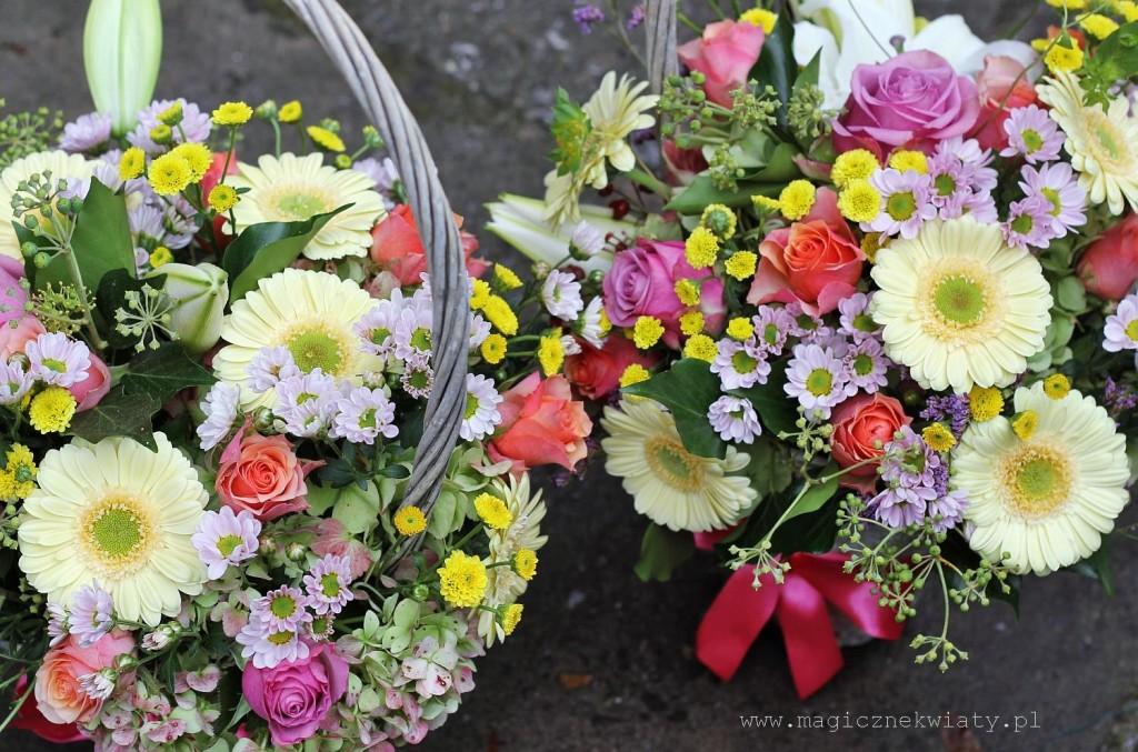 koszyczek  kwiatowy, Kraków, Magiczne kwiaty, Dzień Matki, dzień babci, urodzinowy, imieninowy5