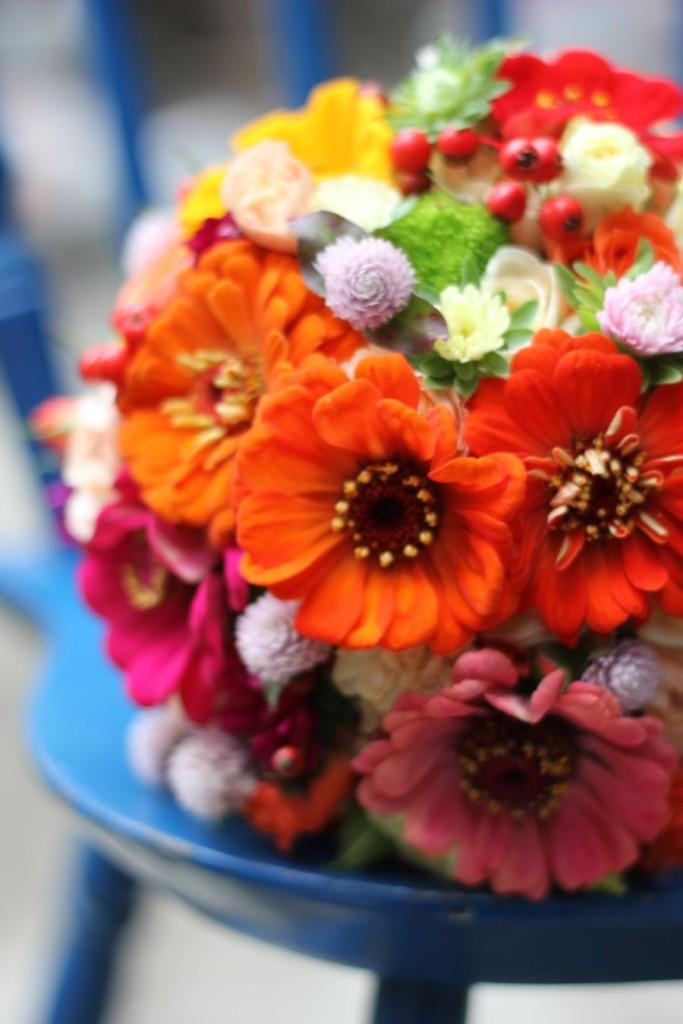 bukiet ślubny, cynie, róże, jesienny, jarzębina, astry, Kraków5