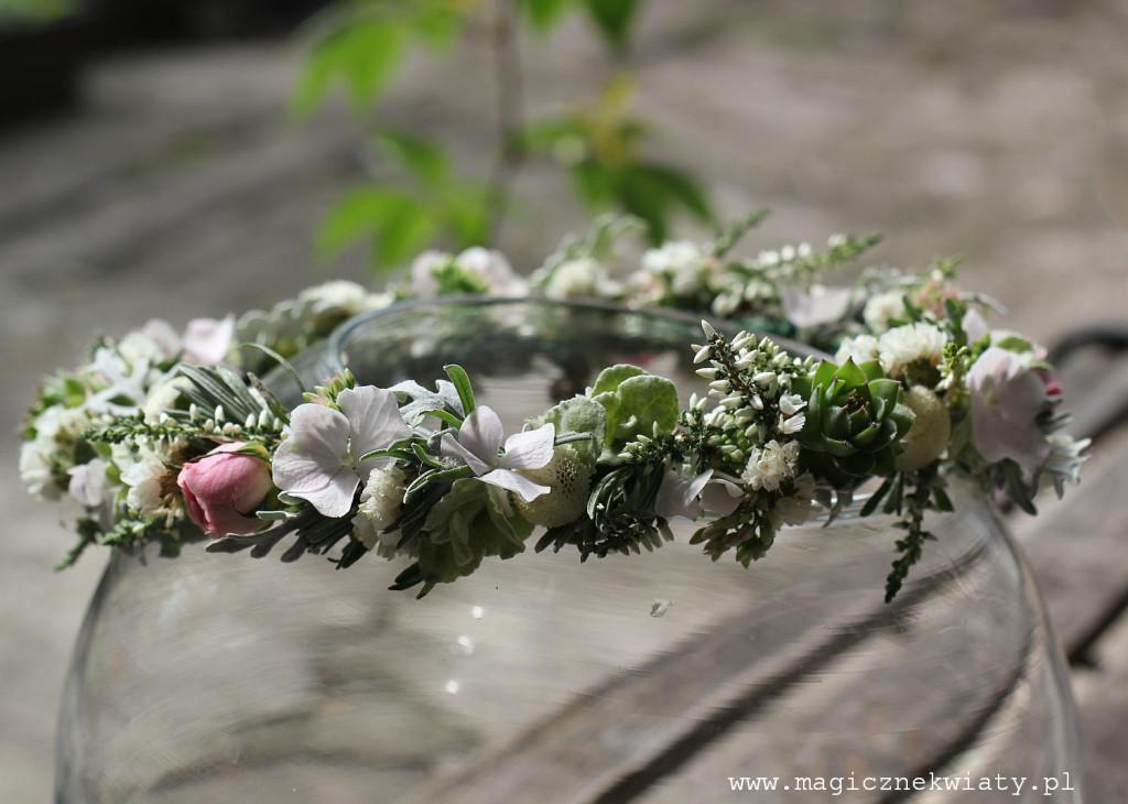 wianek na ślub, wesele, Magiczne Kwiaty, Kraków