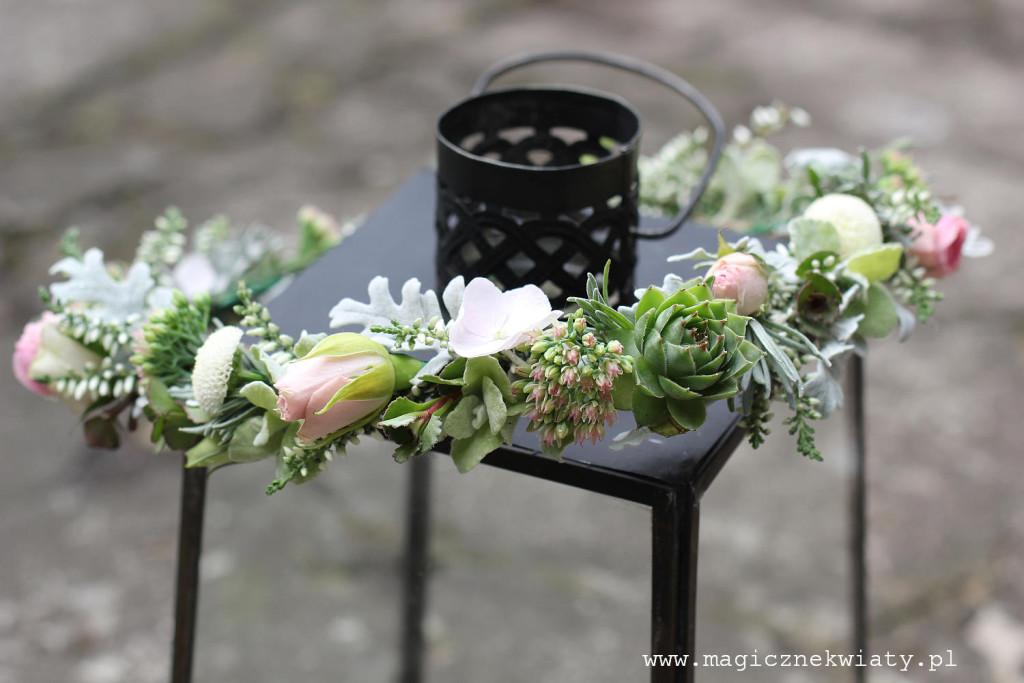 wianek na ślub, wesele, Magiczne Kwiaty, Kraków4