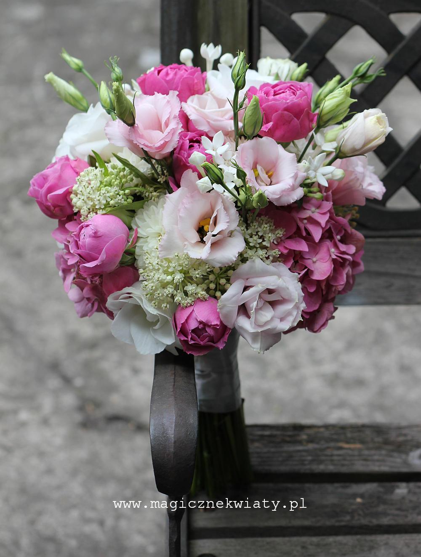 rózowy, pudrowo rozowy bukiet slubny, pastelowy, klasyczny