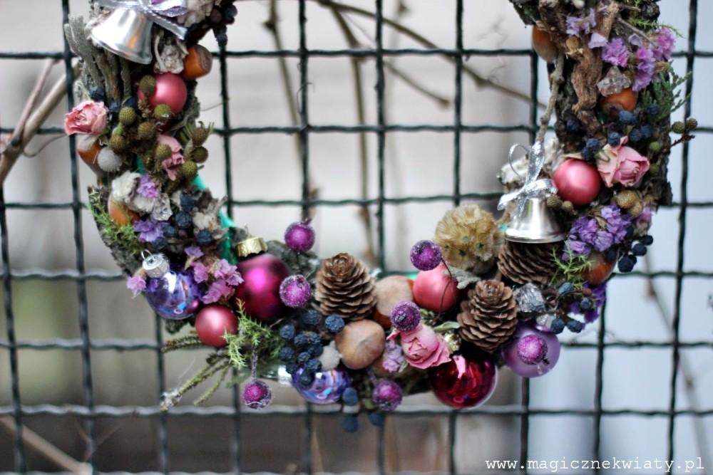 boże Narodzenie, dekoracje, wianki, kraków, magiczne kwiaty